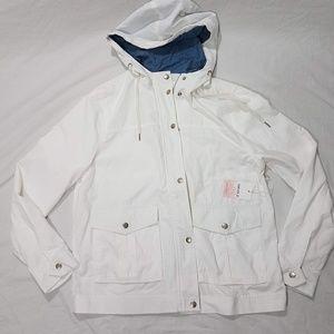Lightweight White Utility Jacket Size M NWT